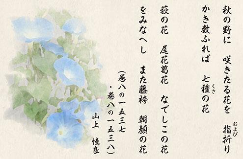秋の七草を詠んだ和歌